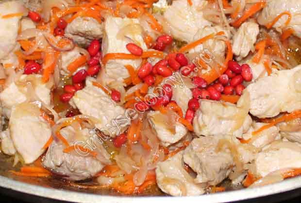 Плов из свинины рецепт барбарис с фото